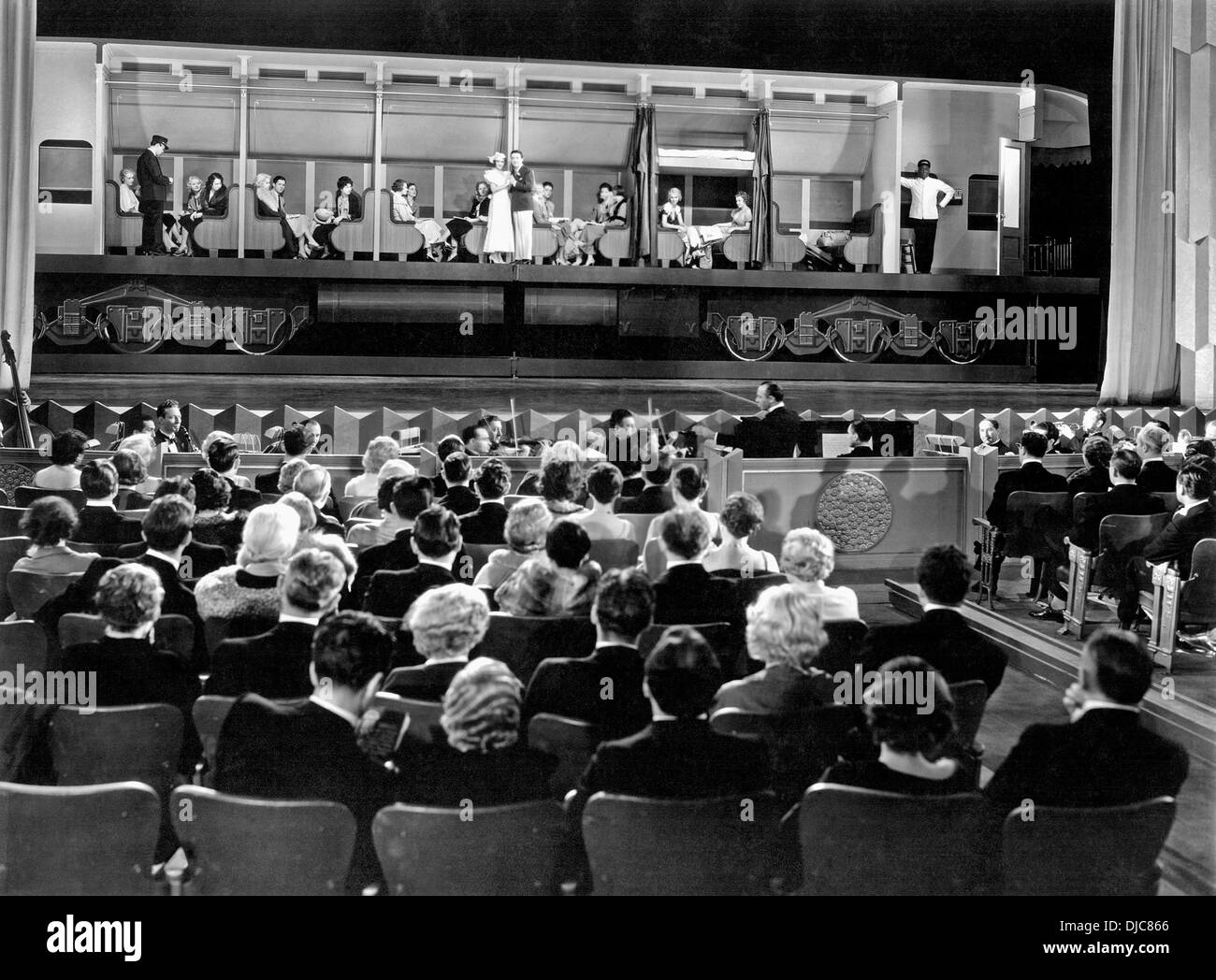 Stage Setting on-set of the Film, 42nd Street, 1933 - Stock Image