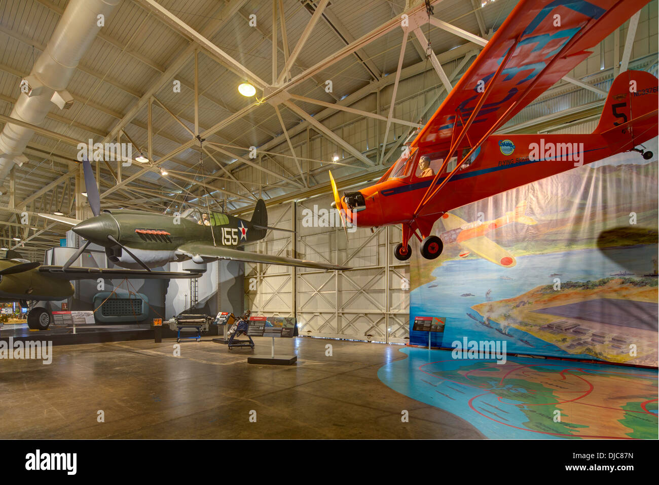 Pacific Aviation Museum Pearl Harbor, Ford Island, Honolulu, Oahu, Hawaii - Stock Image
