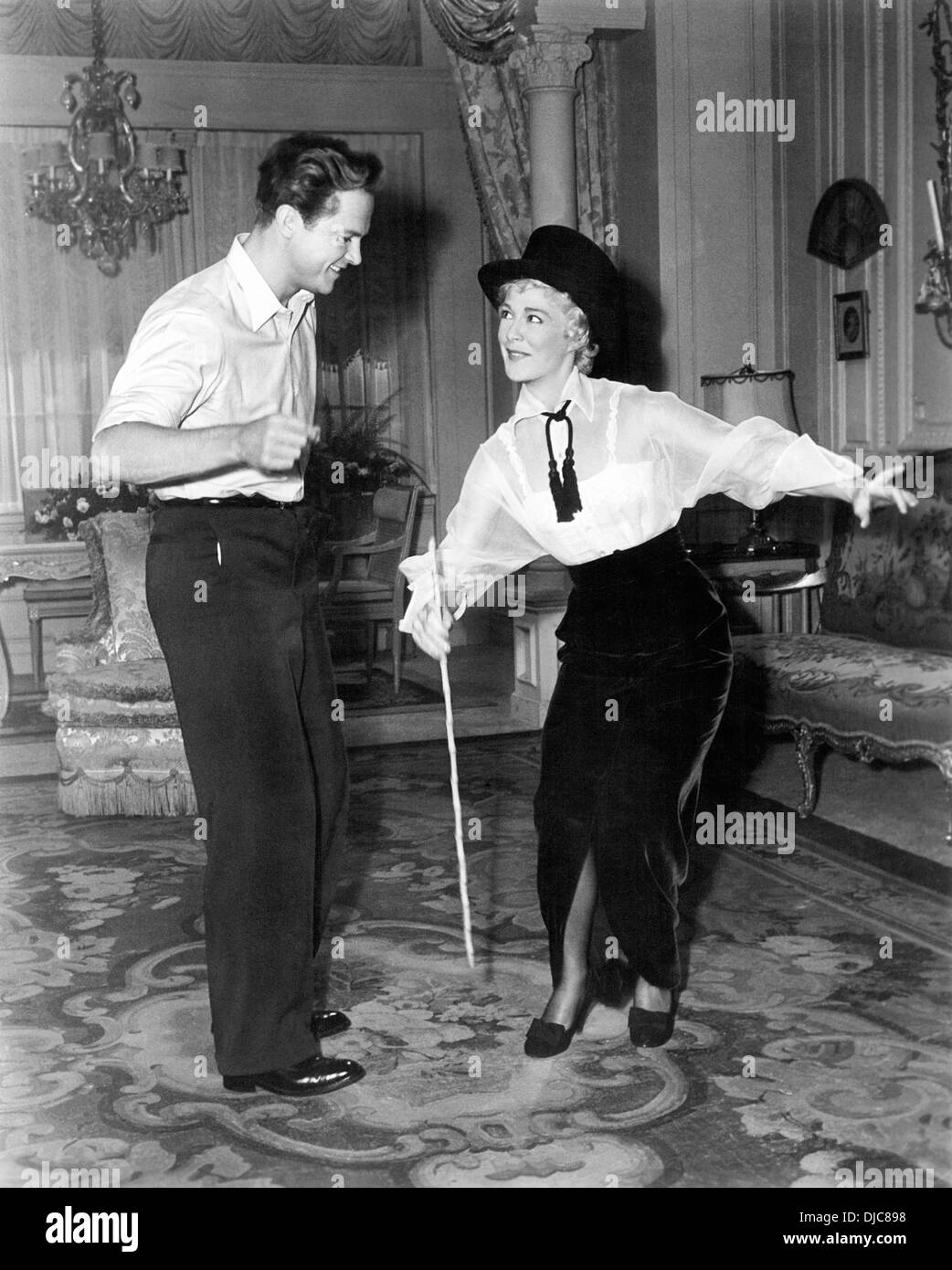 Ralph Meeker and Betty Hutton on-set of the Film, Somebody Loves Me, 1952 - Stock Image