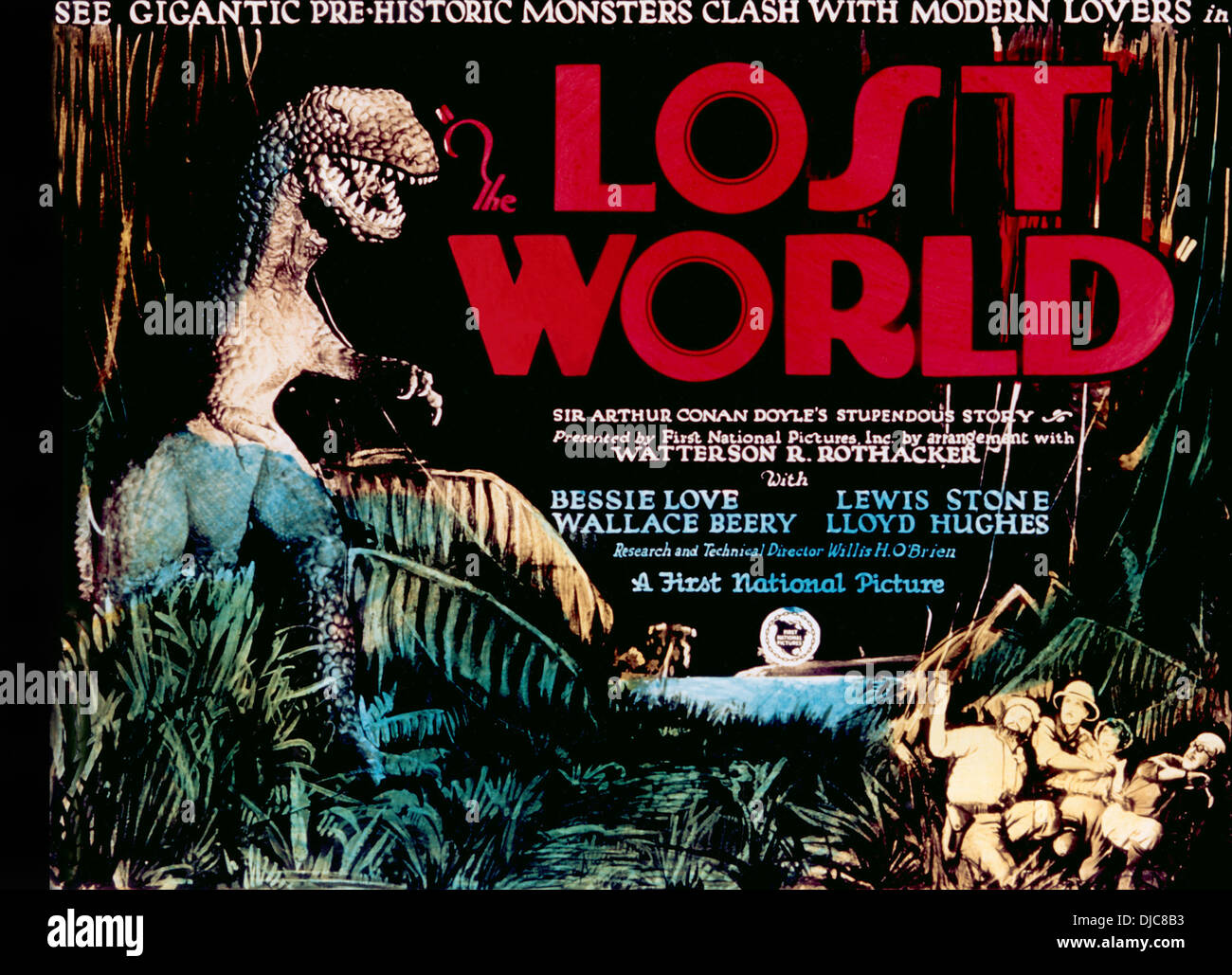 Movie Poster, The Lost World, 1925 - Stock Image