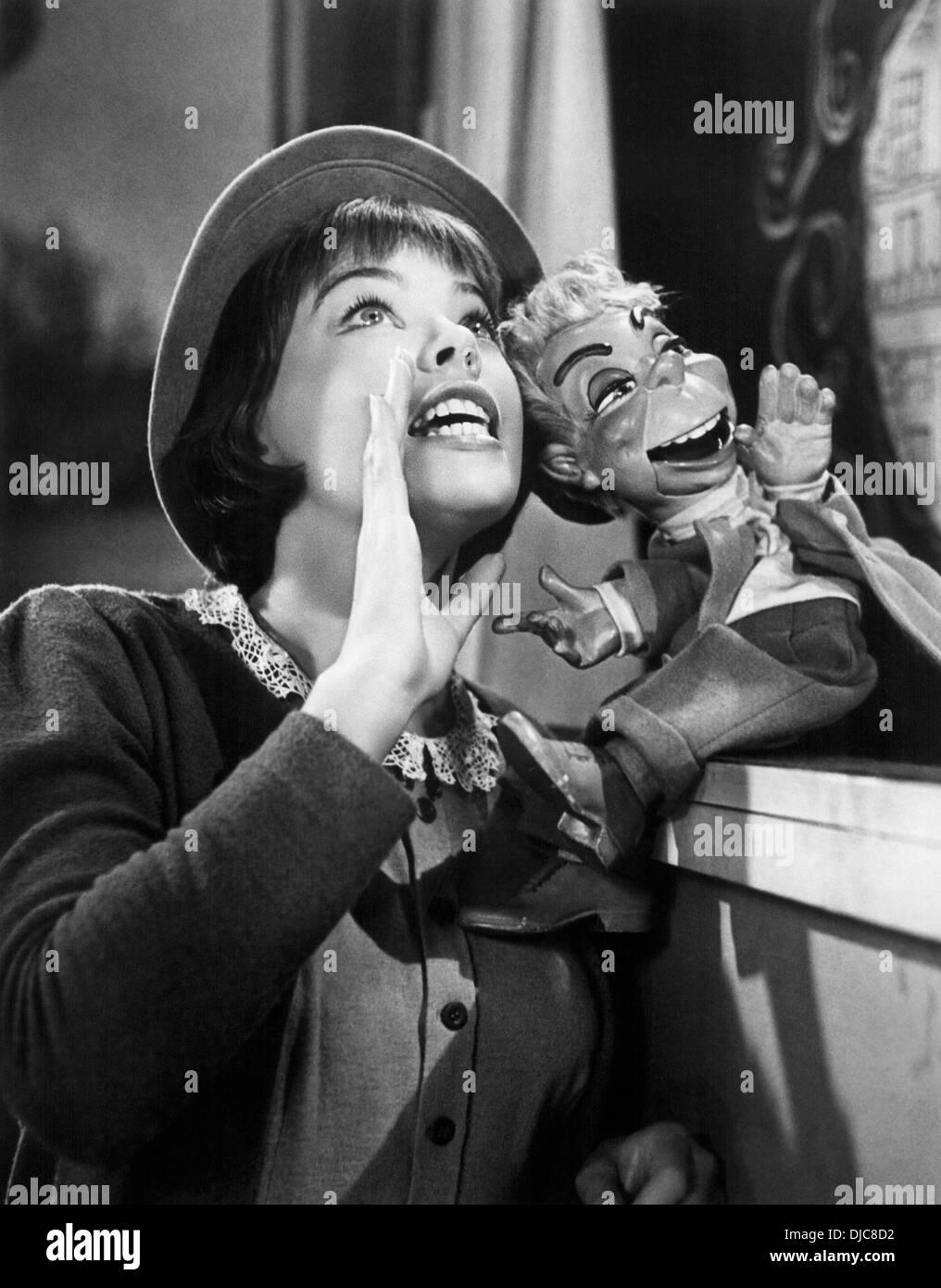 Leslie Caron on-set of the Film, Lili, 1953 - Stock Image