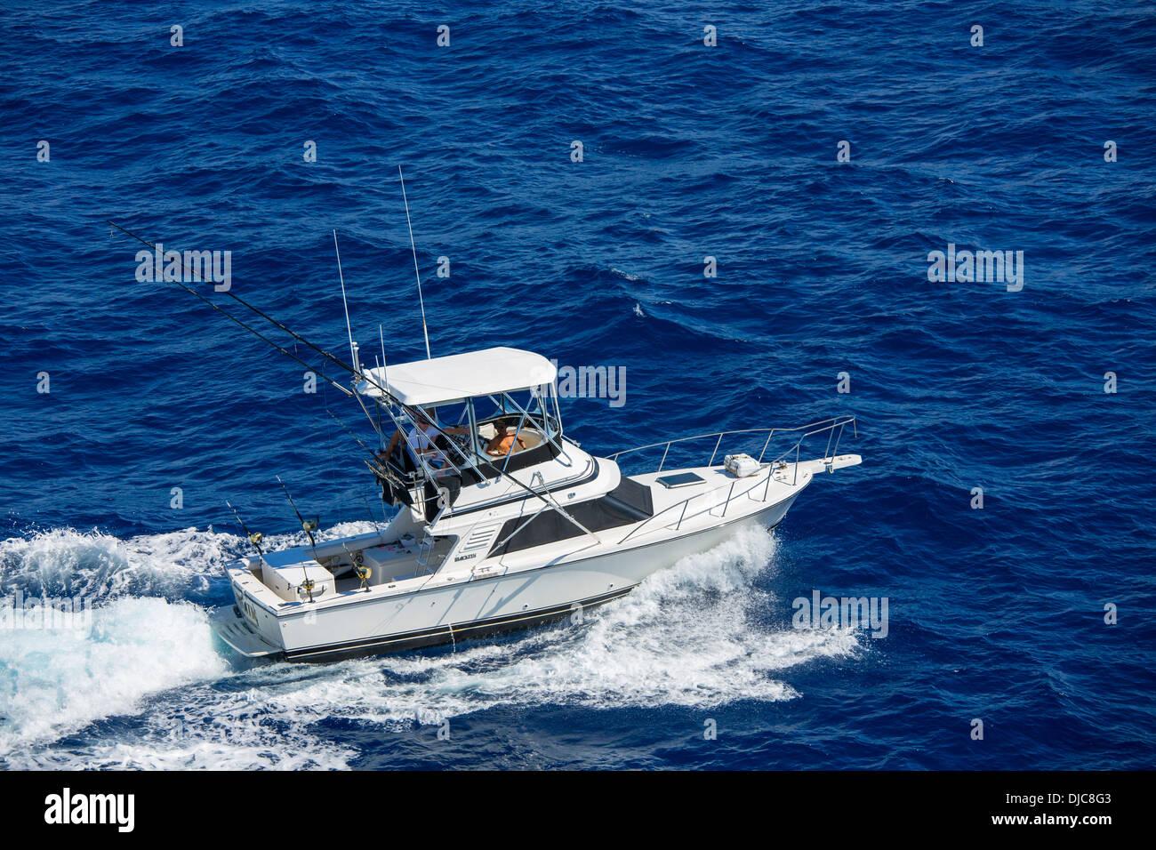 Deep Sea Sport Fishing, Oahu, Hawaii - Stock Image