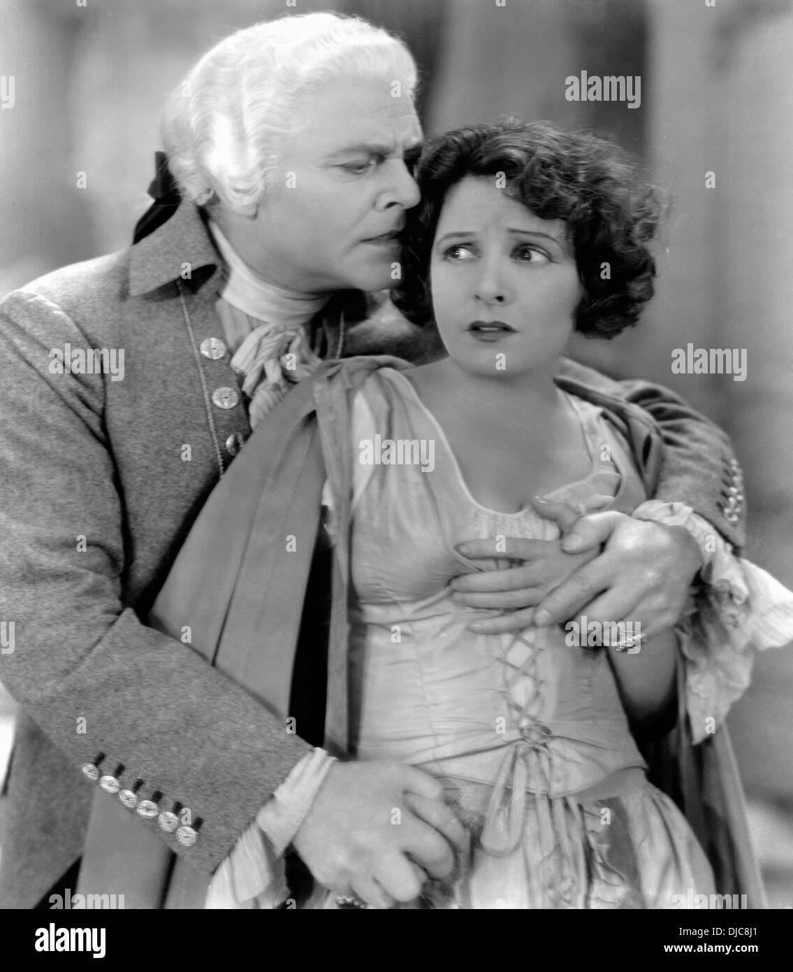 William Farnum and Norma Talmadge on-set of the Film, Du Barry, Woman of Passion, 1930 - Stock Image