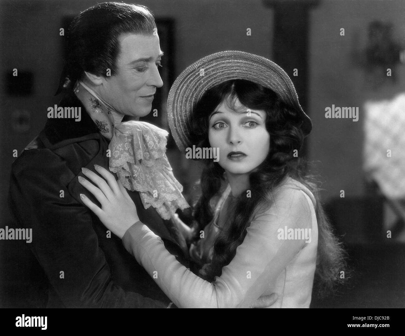 H.B. Warner and Corrine Griffith on-set of the Film, The Divine Lady, 1929 - Stock Image