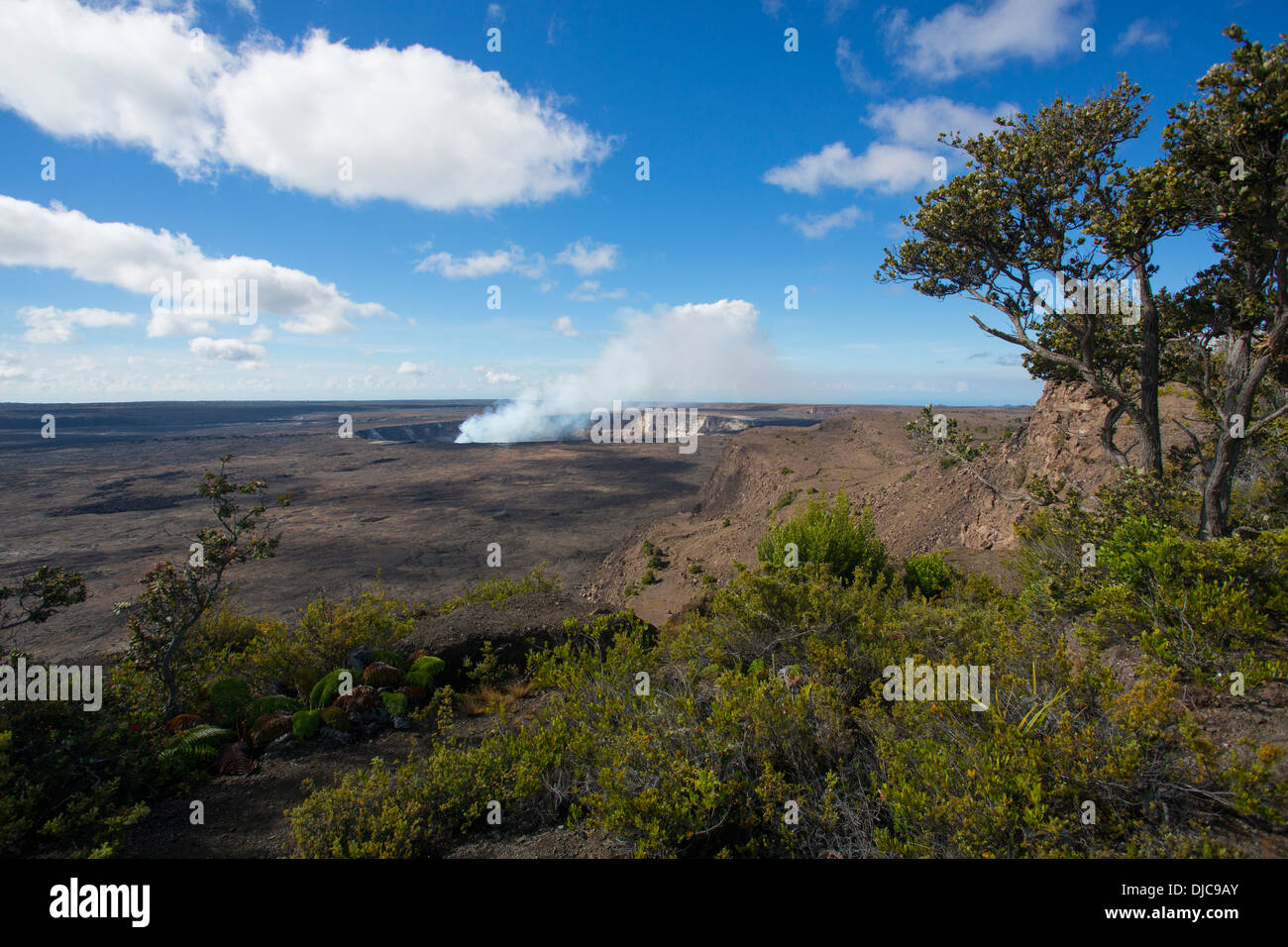 Halemaumau Crater, Kilauea Volcano, HVNP, Big Island of Hawaii - Stock Image