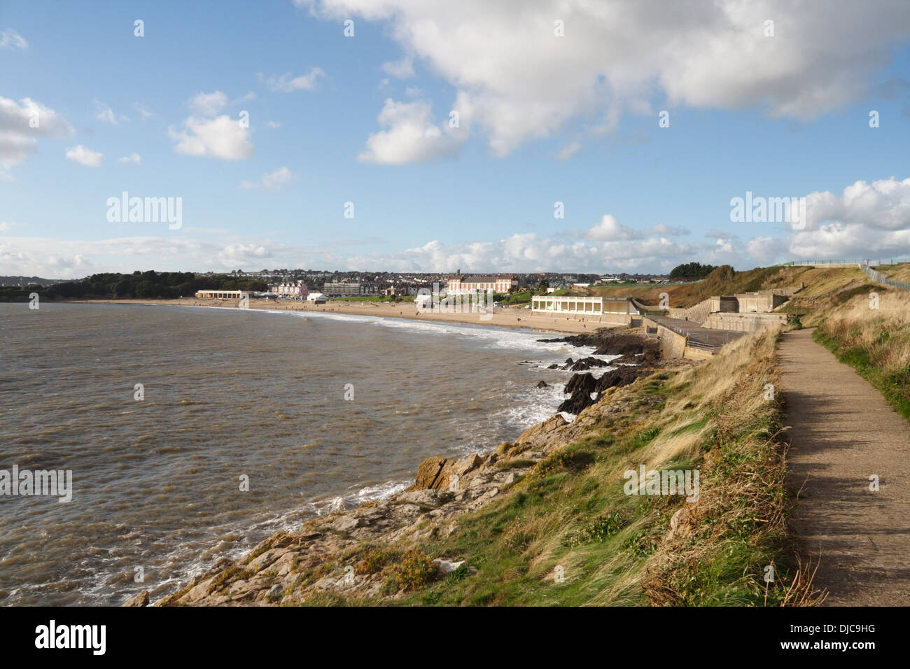 Whitmore Bay and Beach in Barry Island, Wales Stock Photo
