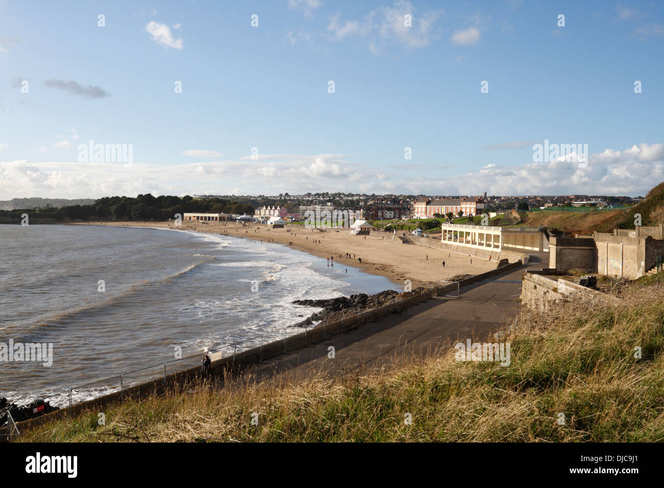 Whitmore Bay and Beach in Barry Island, Wales, welsh coast Stock Photo