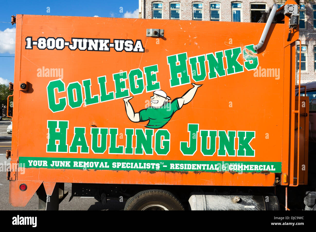 junk removal tampa jdog removal truck for college hunks hauling junk ybor city tampa junk removal stock photos images alamy