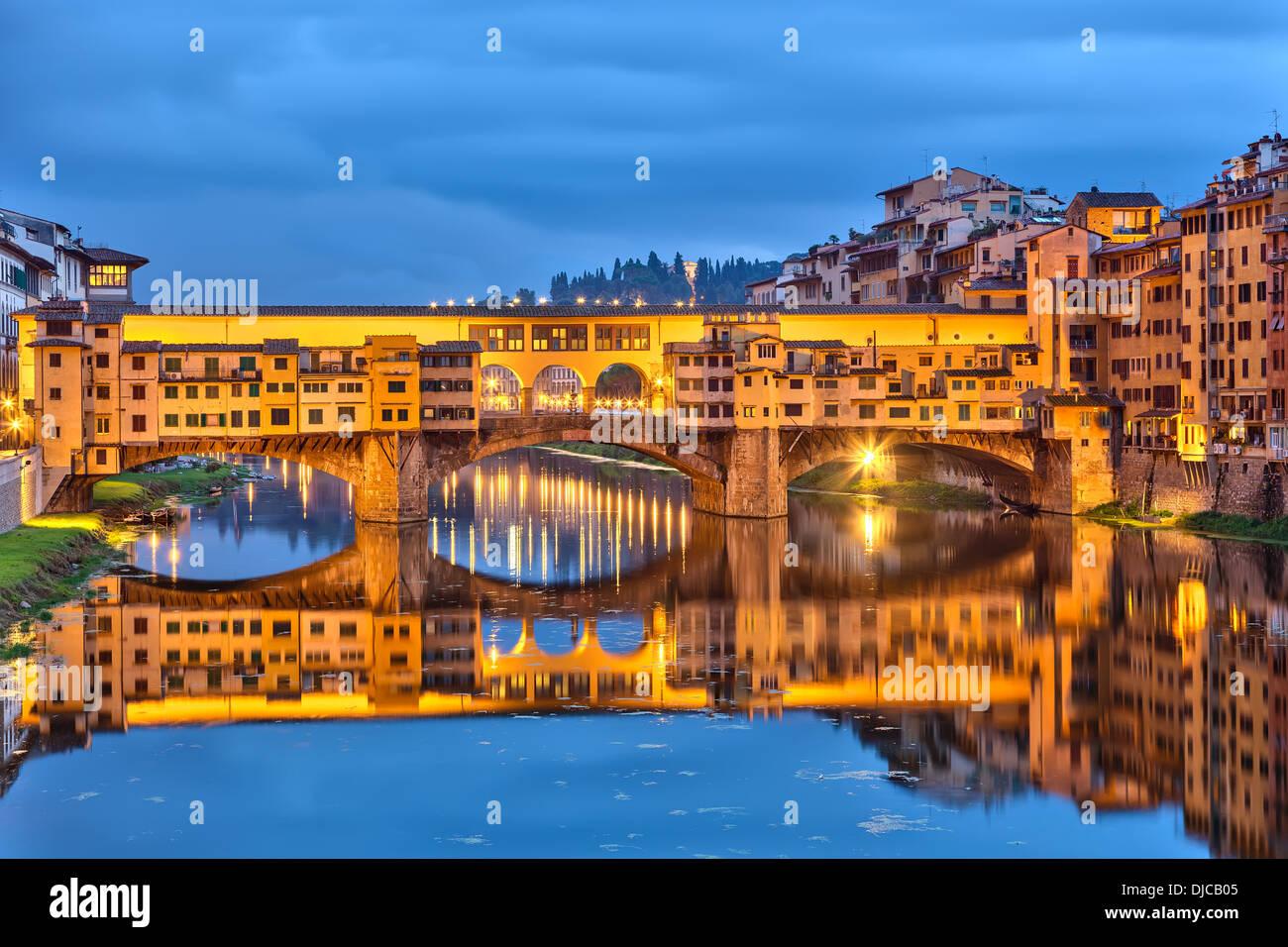 Ponte Vecchio in Florence - Stock Image