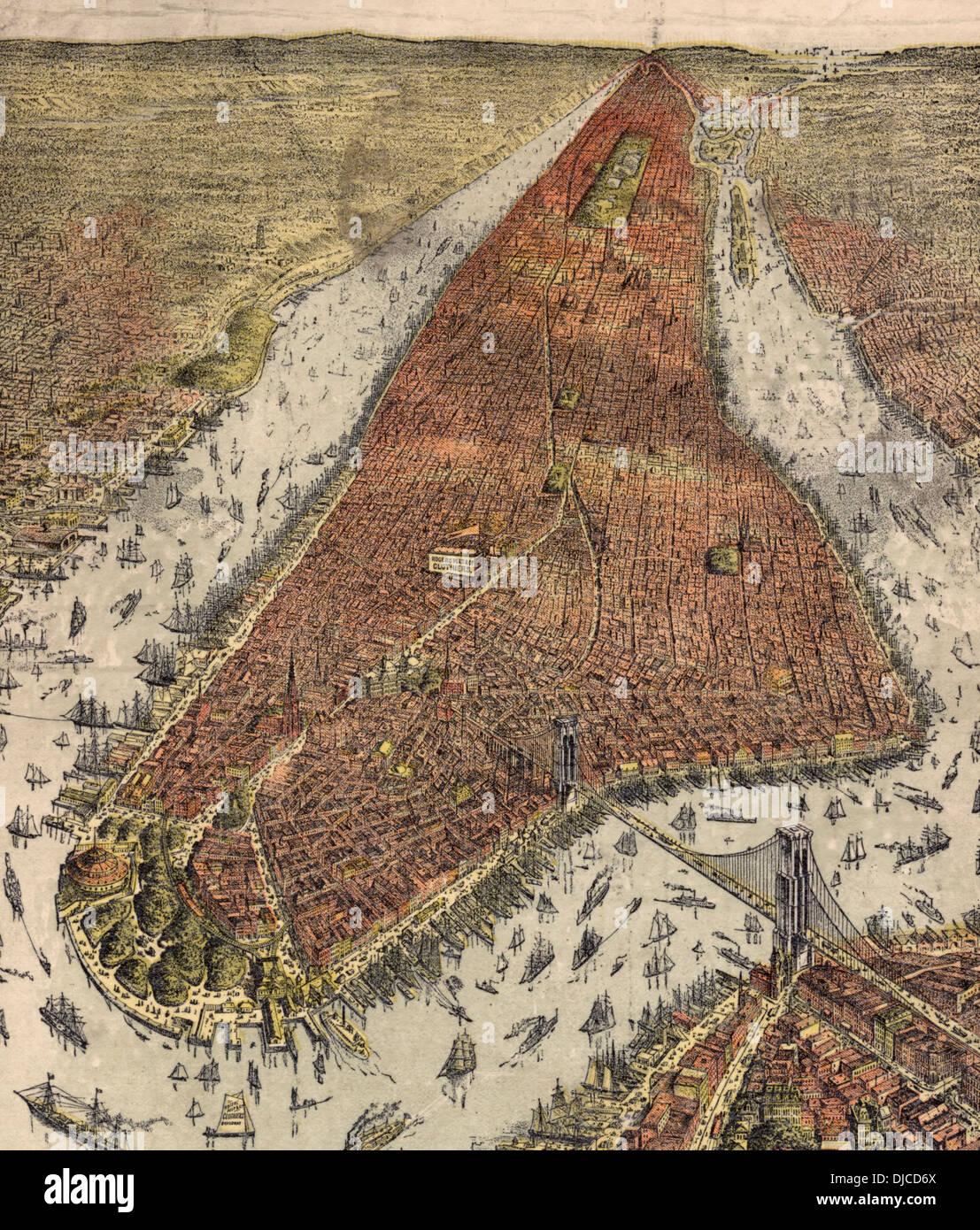 City of New York 1879 - Stock Image