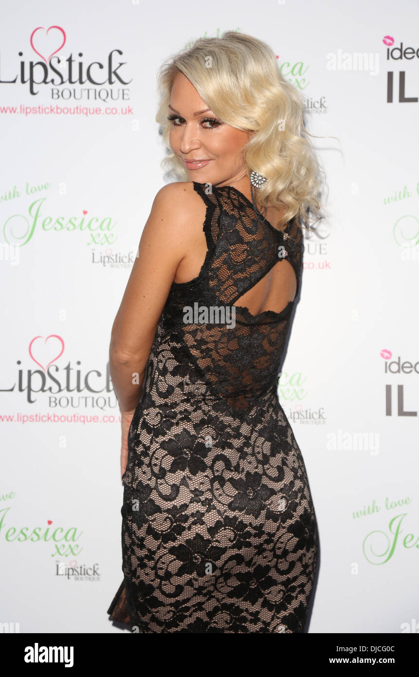 Kristina Rihanoff Jessica Wright and Lipstick Boutique launch 'With Love Jessica' collection held at the Sanctum Soho hotel - Arrivals London, England - 21.08.12 - Stock Image