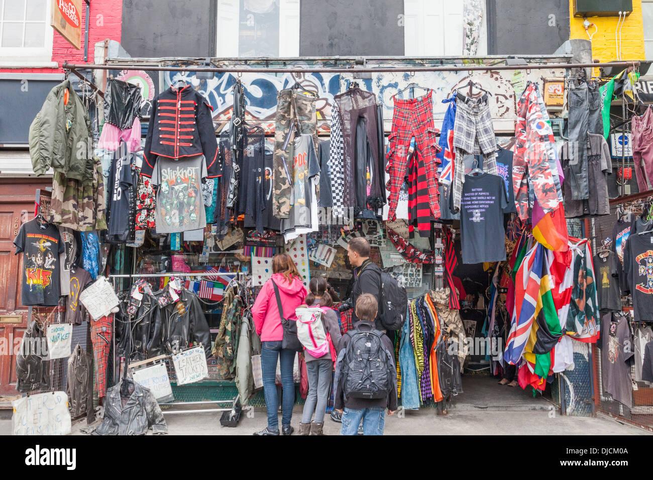 England, London, Camden, Camden Market, Family Shopping at ...