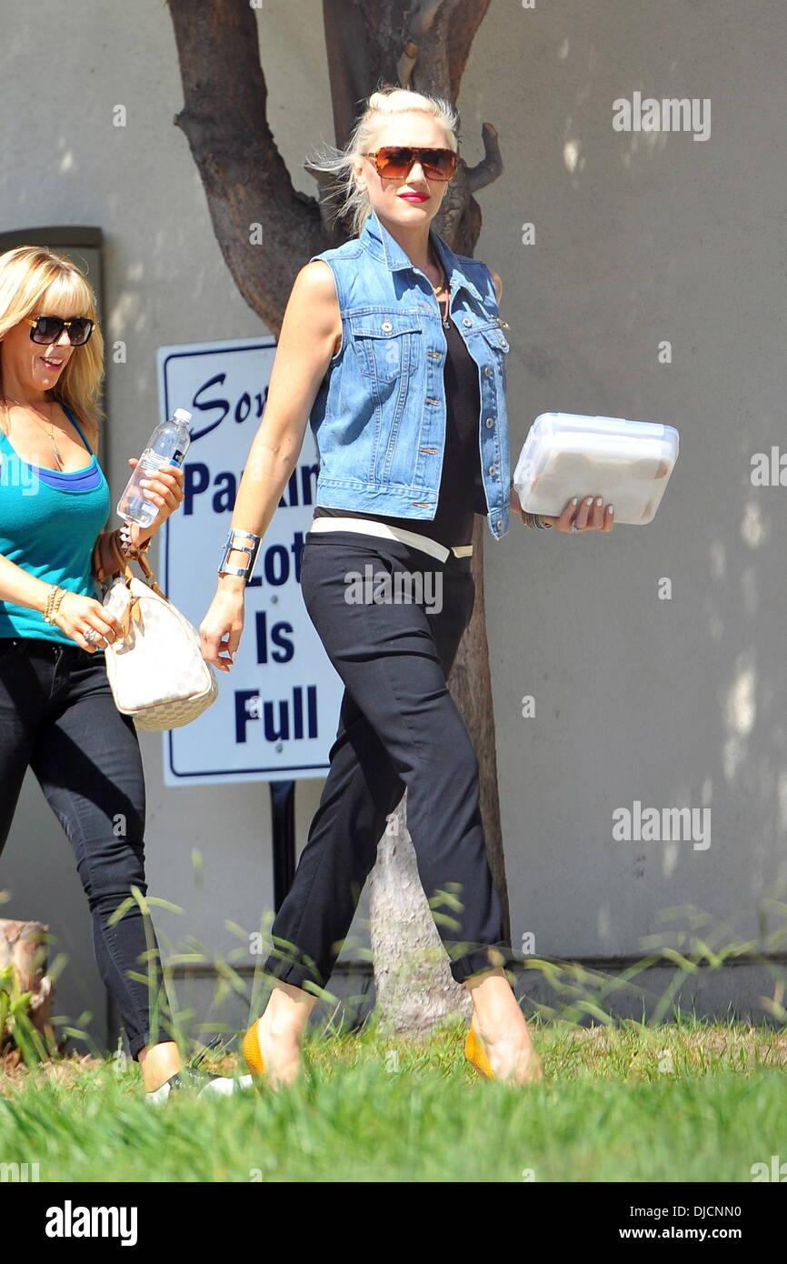 Gwen Stefani seen heading to the No Doubt's 'Push & Shove' video shoot. Los Angeles, California - 31.08.12 - Stock Image