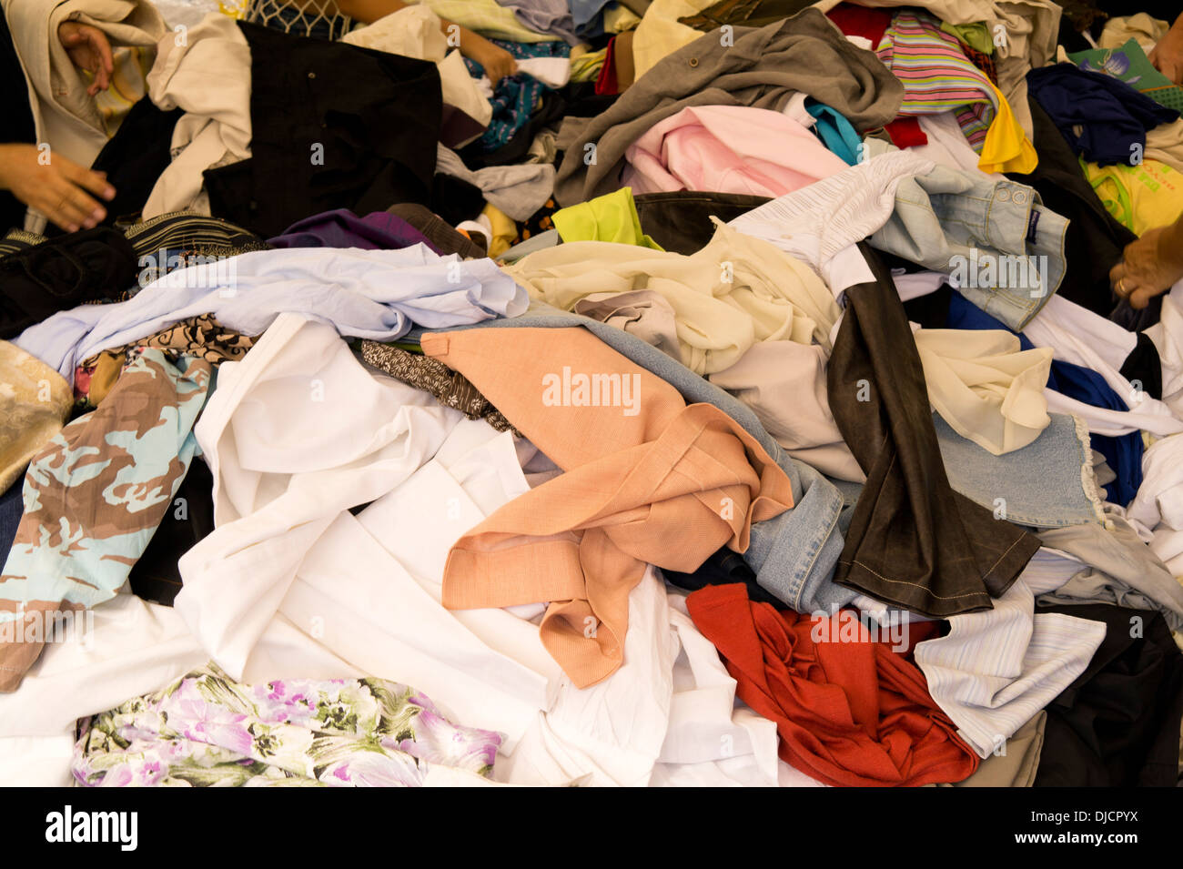 jumble sale - Stock Image