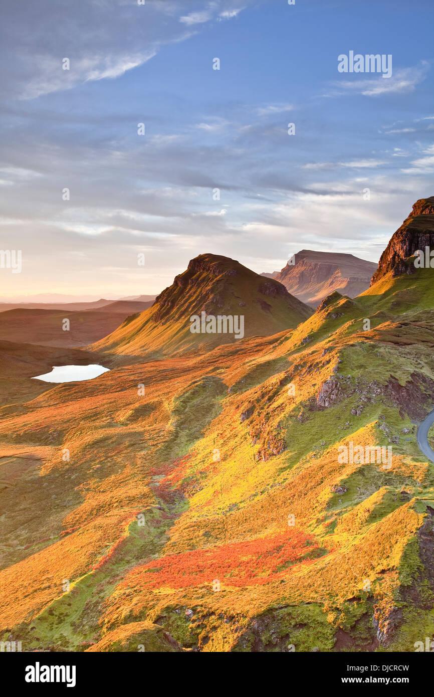 Sunrise on the Trotternish Ridge, Isle of Skye. - Stock Image