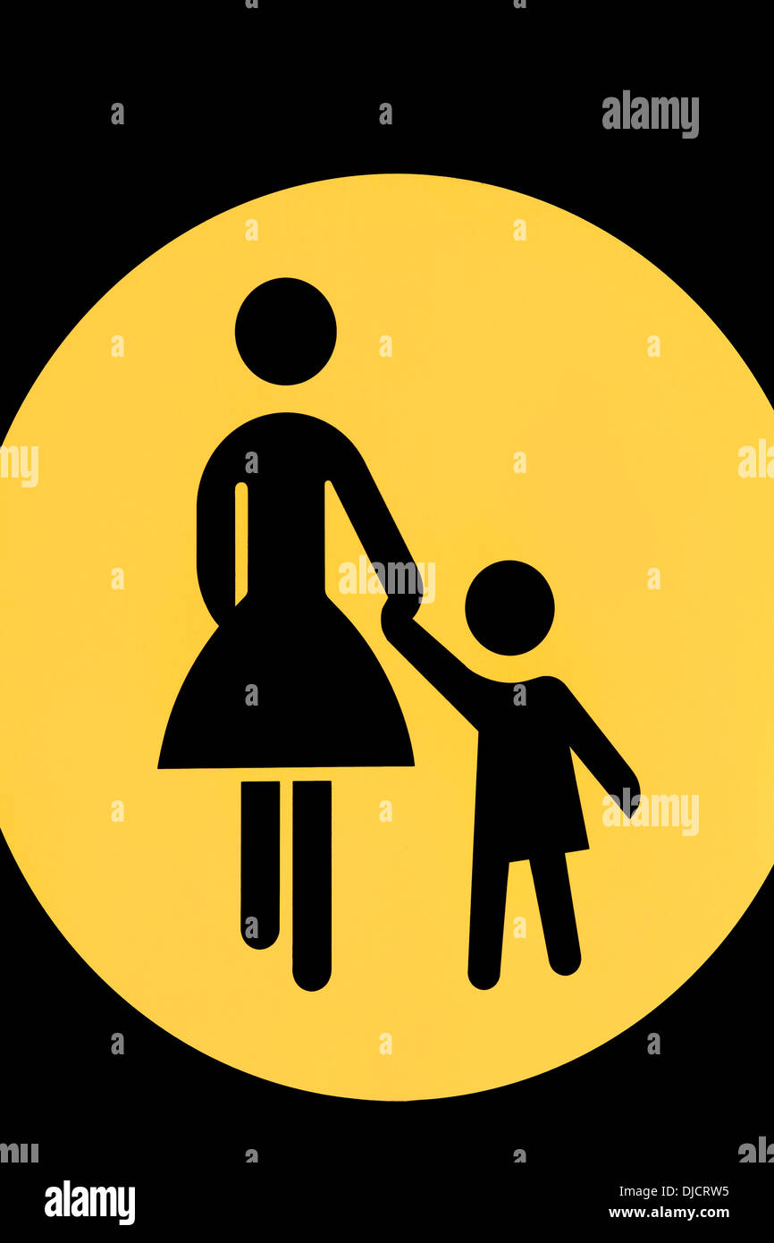 Pictogram for mother and child - Stock Image