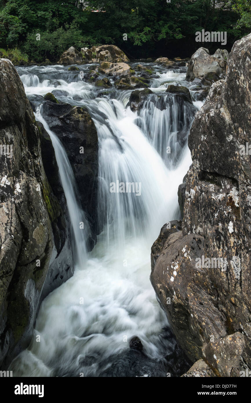 Great Britian, Wales, Betws-y-Coed, Conwy river Snowdonia National Park - Stock Image