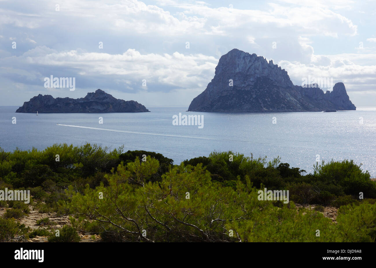 torre es vedra, cala carbo, ibiza, spain - Stock Image