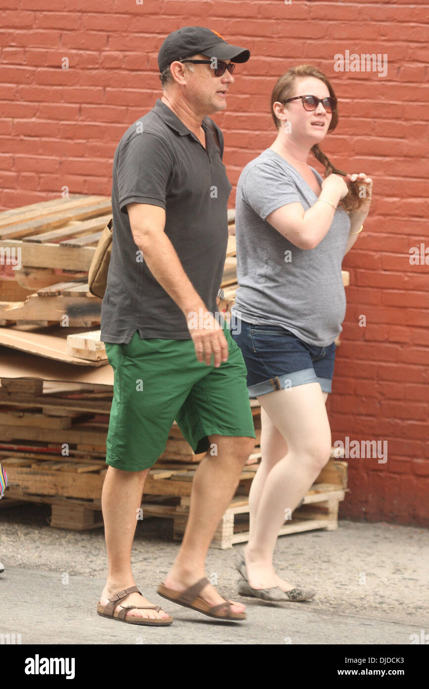 Actor Tom Hanks seen out and about with his son Chet and daughter Stock Photo: 62990231 - Alamy