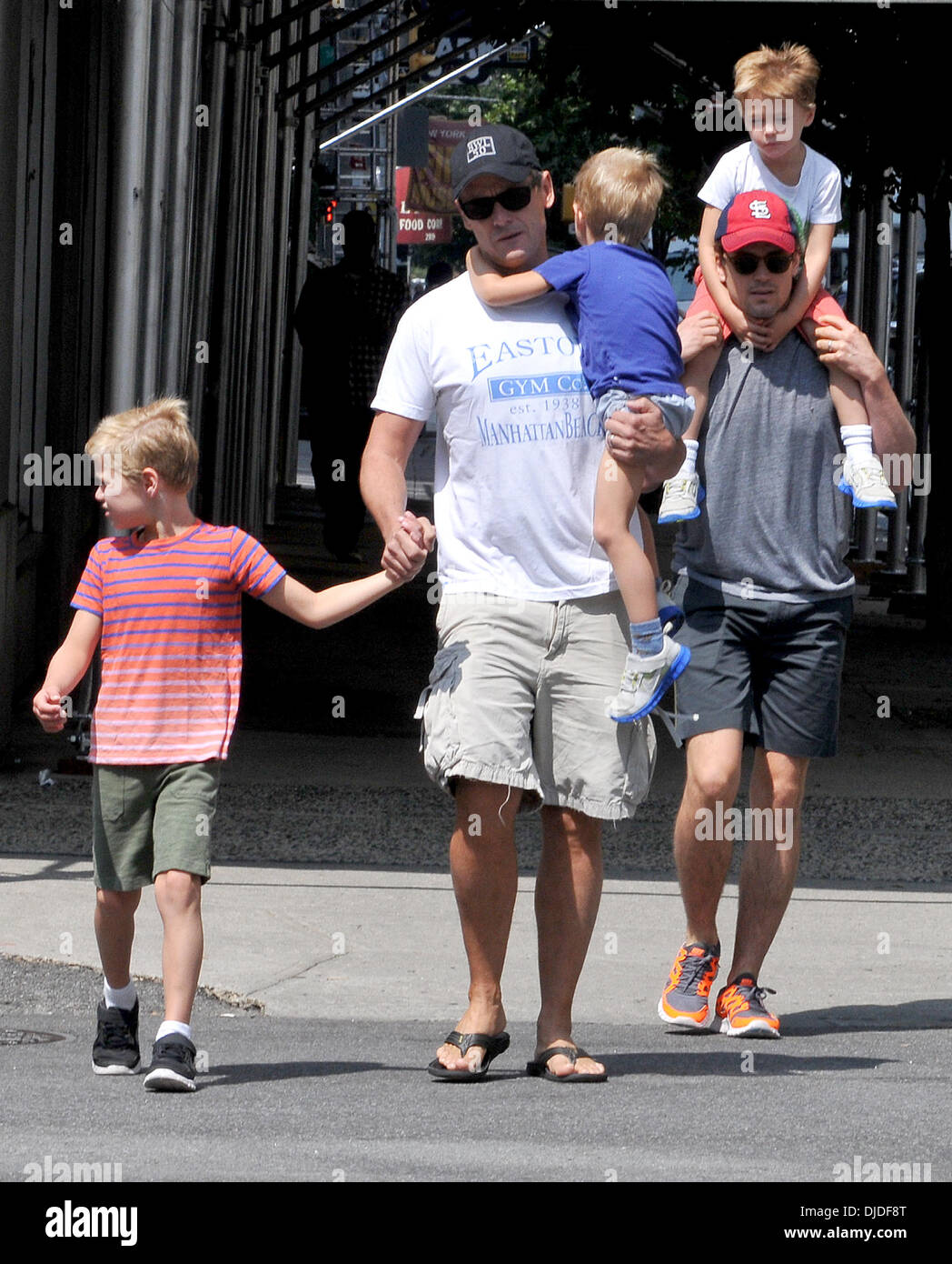 Simon Halls, Matt Bomer and sons Kit, Walker and Henry Matt Bomer and partner out and about with their three sons Where: New York City, United States When: 02 Aug 2012 Stock Photo