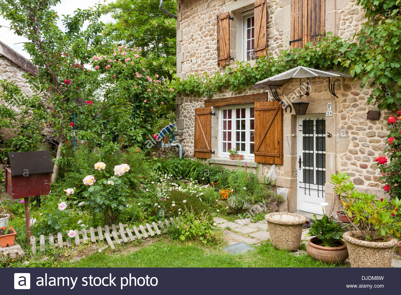 House And Beautiful Garden France Stock Photos House And