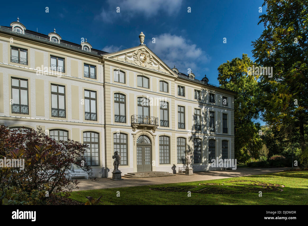 Summer Palais in the landscaped park, early Classicism, 18th century, Greiz, Thuringia, Germany - Stock Image