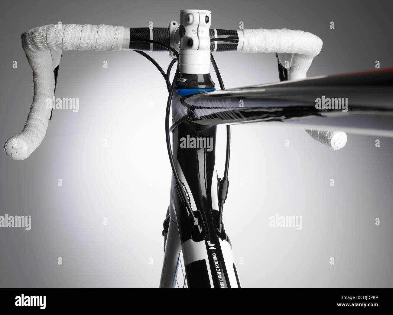 Road bicycle handlebars - Stock Image