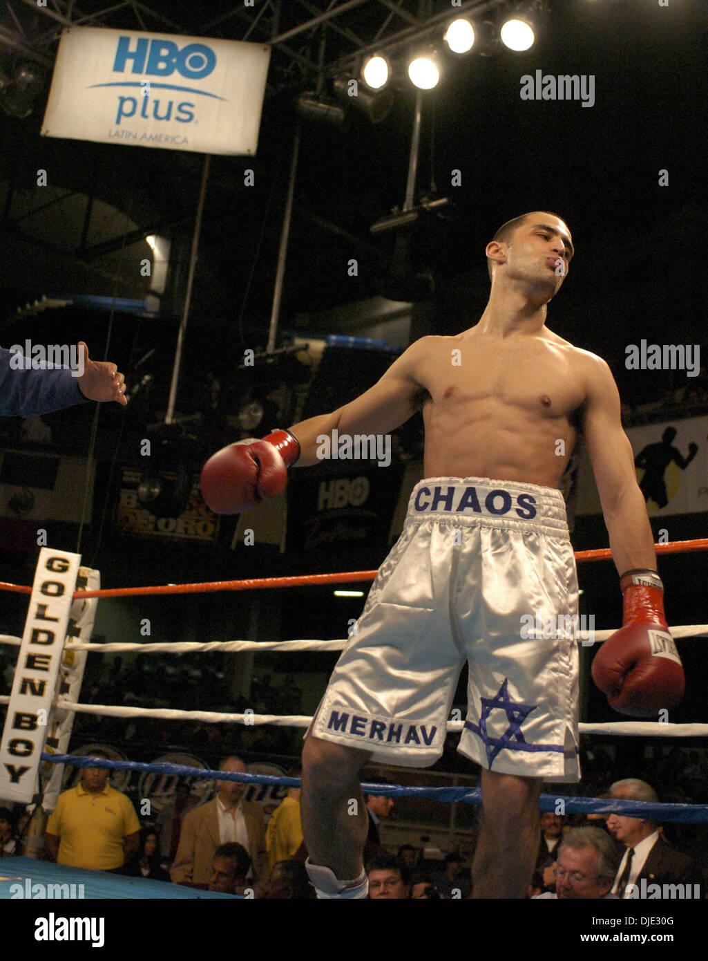 5dac6a94955e ... boxer MERHAV MOHAR defeated Eddie Cota during Oscar De La Hoya s golden  Boy Promotion s  Boxeo De Oro  series at the Olympic Auditorium in Los  Angeles.