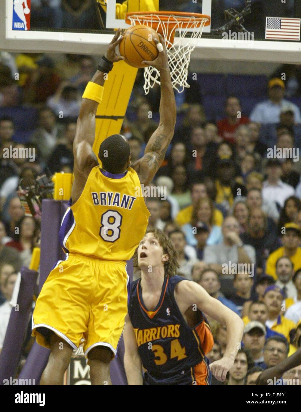 best sneakers 3f762 d50a9 Apr 13, 2004; Los Angeles, CA, USA; (8) KOBE BRYANT from the ...
