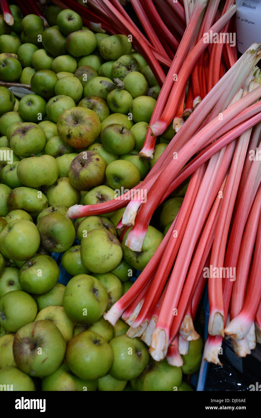 Rhubarb and Apples - Stock Image
