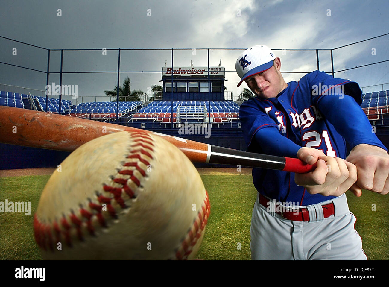 Jun 04, 2004; Boca Raton, FL, USA; DAVE DINATALE racked up some pretty impressive batting stats for the King's Academy squad this year, which earned him the title of the Palm Beach Post's Small Schools Baseball Player of the Year. - Stock Image