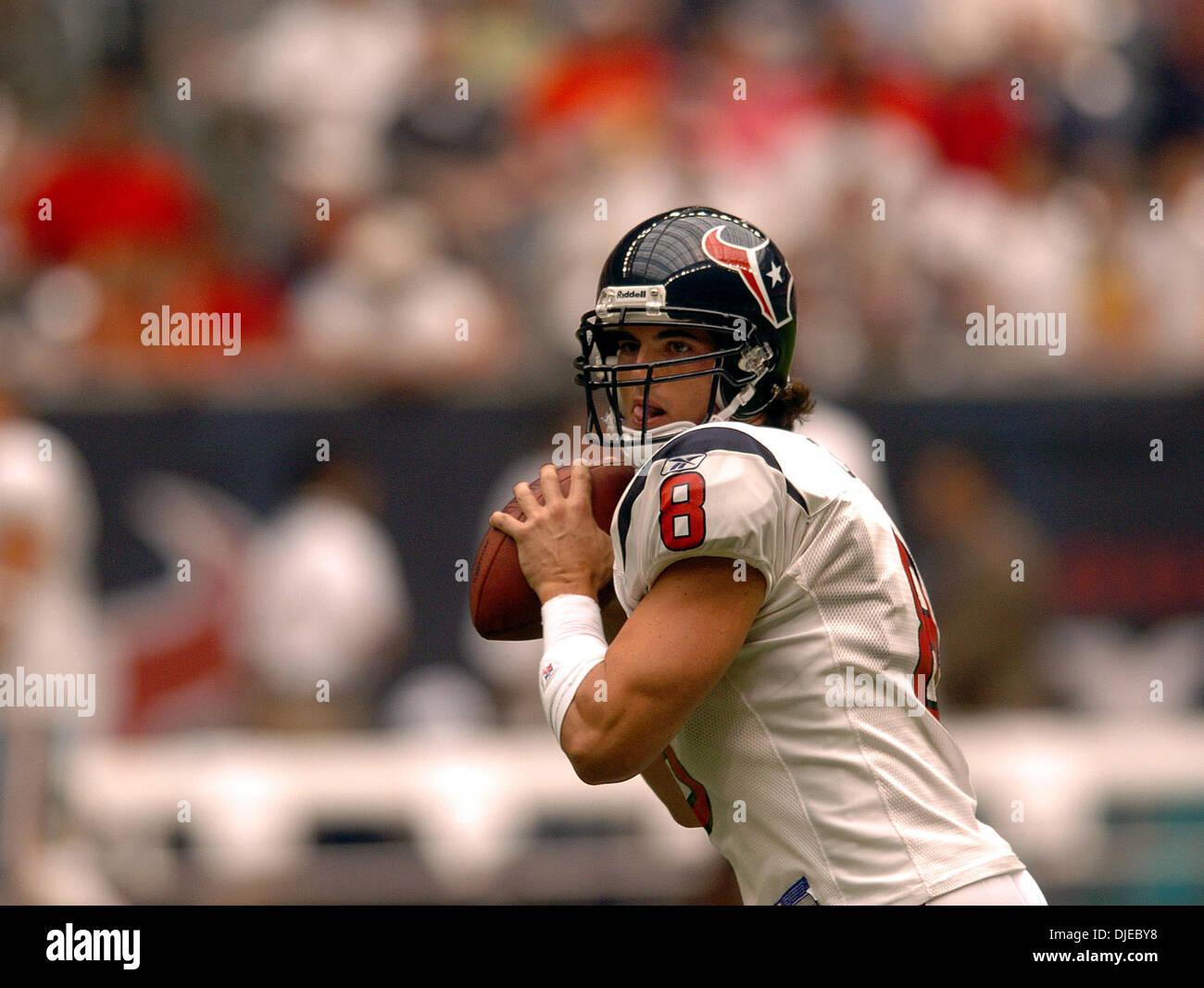 068c9228 Aug 07, 2004; Houston, TX, USA; Houston Texans quarterback DAVID ...