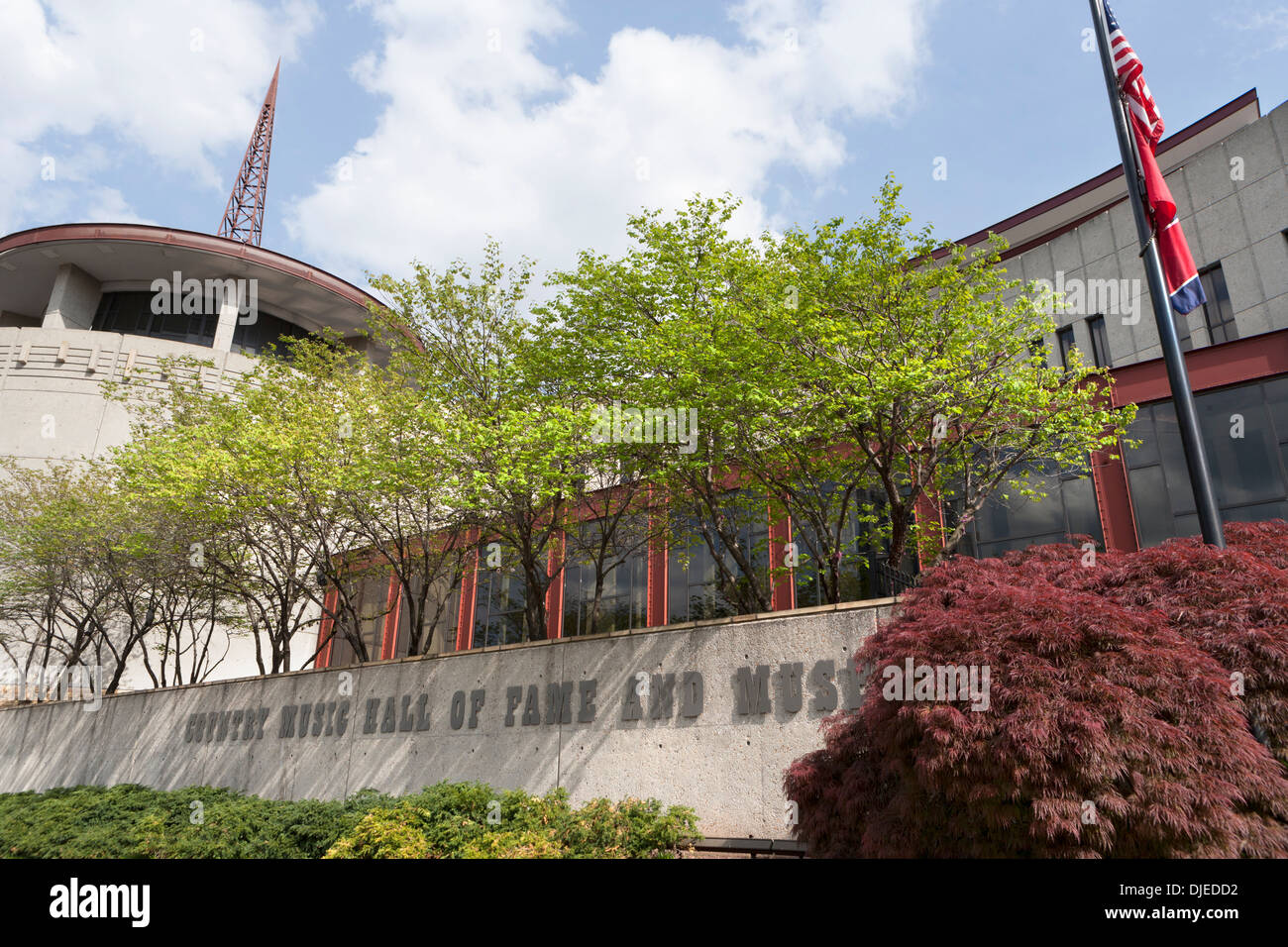 Country Music Hall of Fame exterior in Nashville, TN, USA - Stock Image