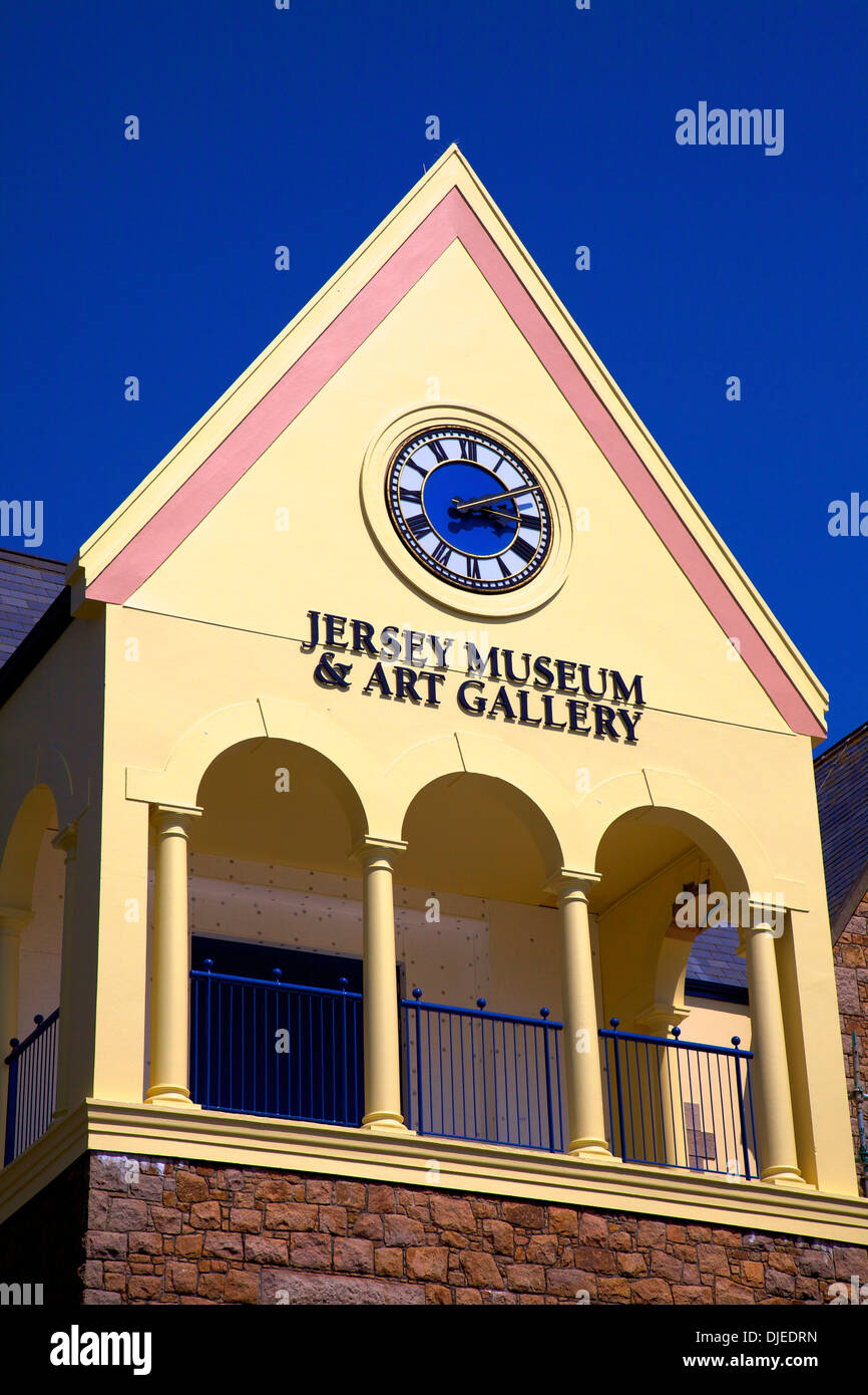 Jersey Museum and Art Gallery, St. Helier, Jersey, Channel Islands - Stock Image