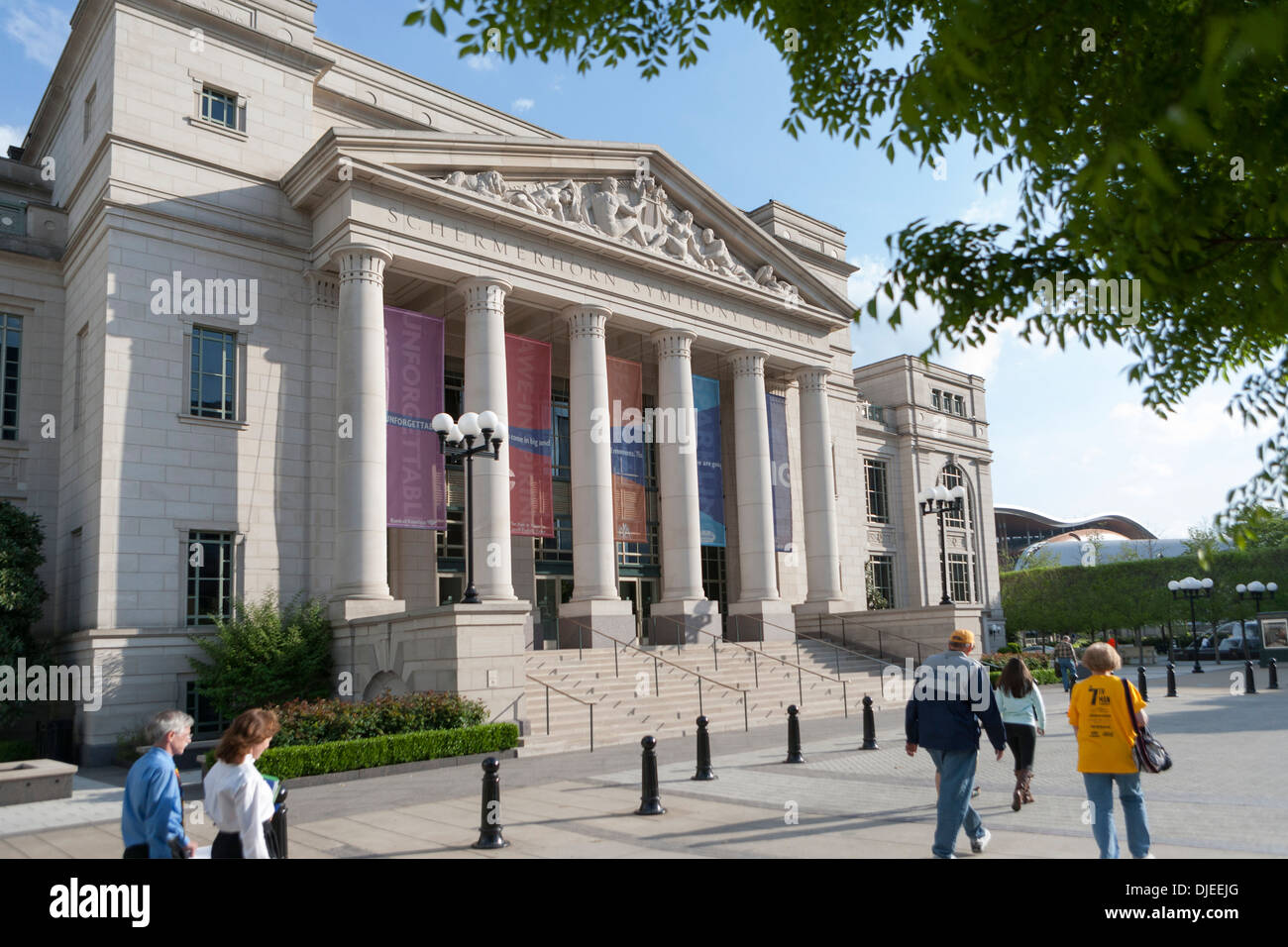 The exterior of the Schermerhorn Symphony Hall in downtown Nashville, Tennessee, USA - Stock Image