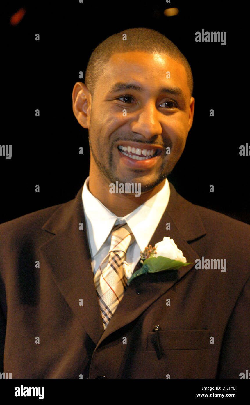 Oct 16, 2004; Commerce, CA, USA; Current WBO Lightweight Champion DIEGO CORRALES is named fighter of the year at The 25th Annual World Boxing Hall of Fame Banquet held at The Commerce Casino. - Stock Image
