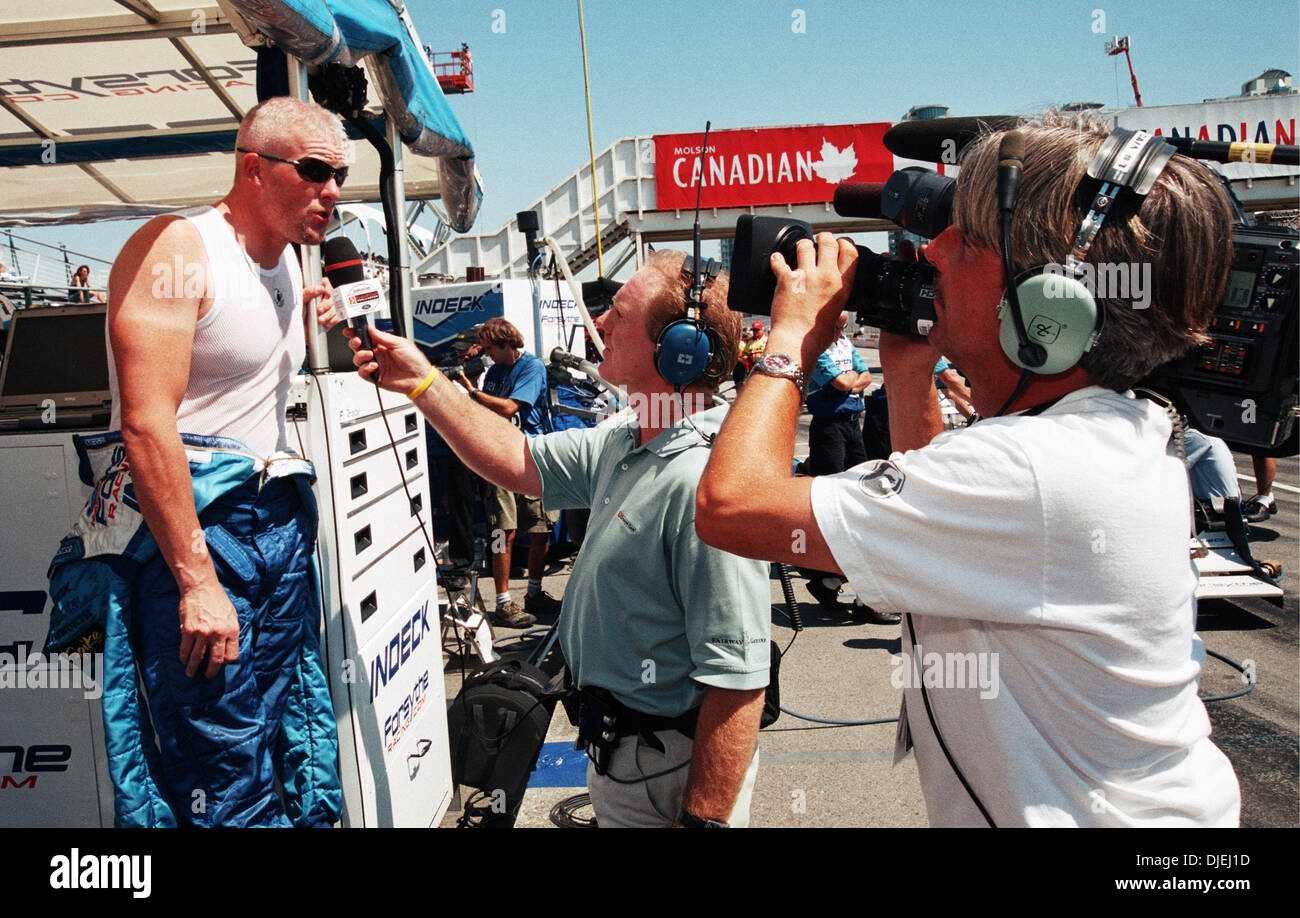 Jul 25, 2004 - Vancouver, British Columbia, Canada - Canadian car racer PAUL TRACY (Forsythe Championship Racing team) after the 2004 Molson Indy Vancouver ChampCar race. He won the first place in 85 laps with the time 1:00.870. (Credit Image: © Sergei Bachlakov/ZUMApress.com) - Stock Image