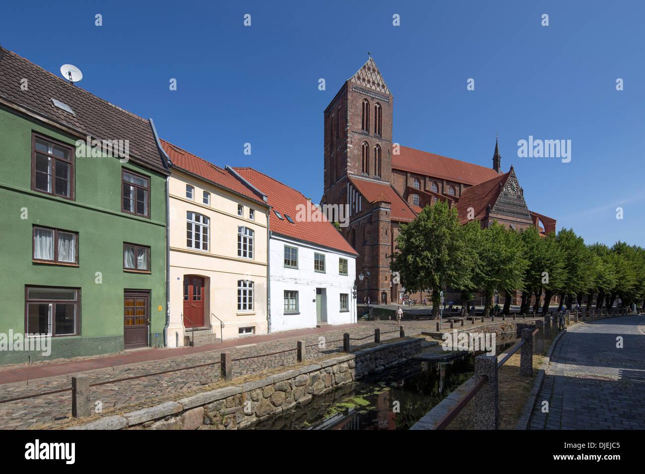 Nikolai church in Wismar, Mecklenburg Vorpommern, Germany - Stock Image