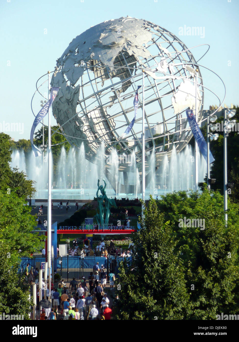 Sep 02, 2007 - New York, NY, USA - Overview of the Unisphere from the Arthur Ashe Stadium at the US Open Tennis Championships on day 7.   (Credit Image: © Susan Mullane/ZUMA Press) - Stock Image