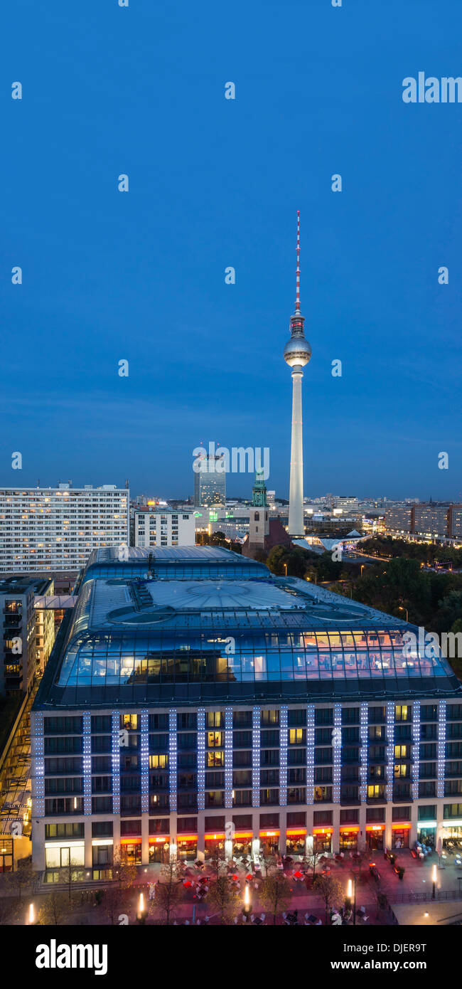 Panoramic View from Dome, Berlin, Germany - Stock Image