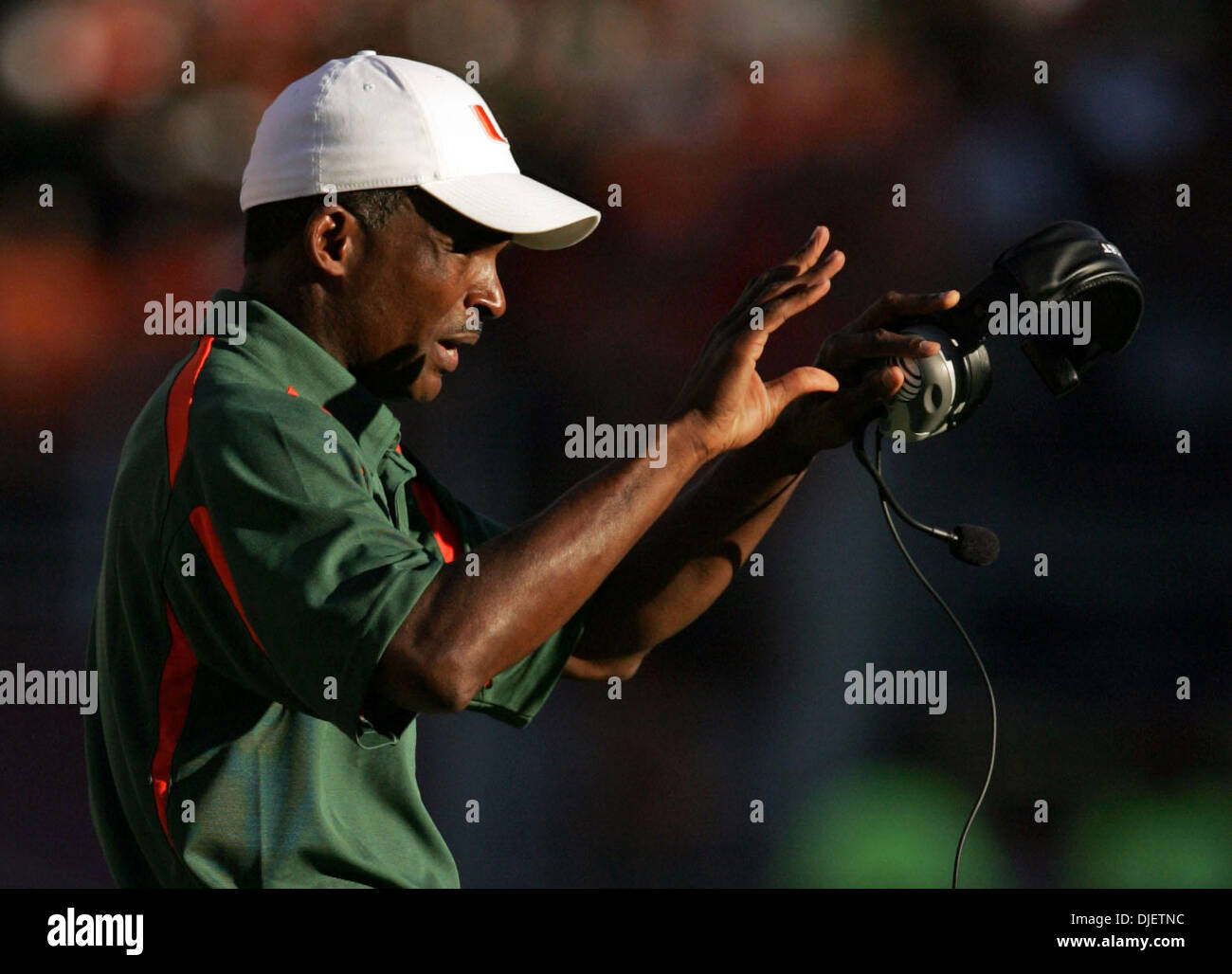 Oct 20, 2007 - Tallahassee, Florida, USA - Canes coach RANDY SHANNON. (Credit Image: © Allen Eyestone/Palm Beach Stock Photo
