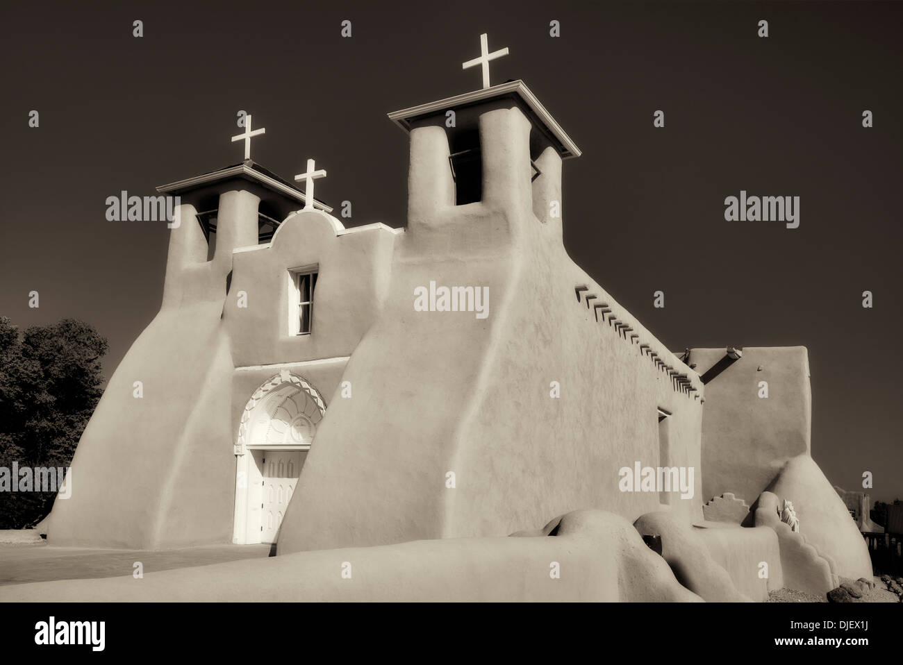 San Francisco de Asis Catholic Church. Taos New Mexico - Stock Image