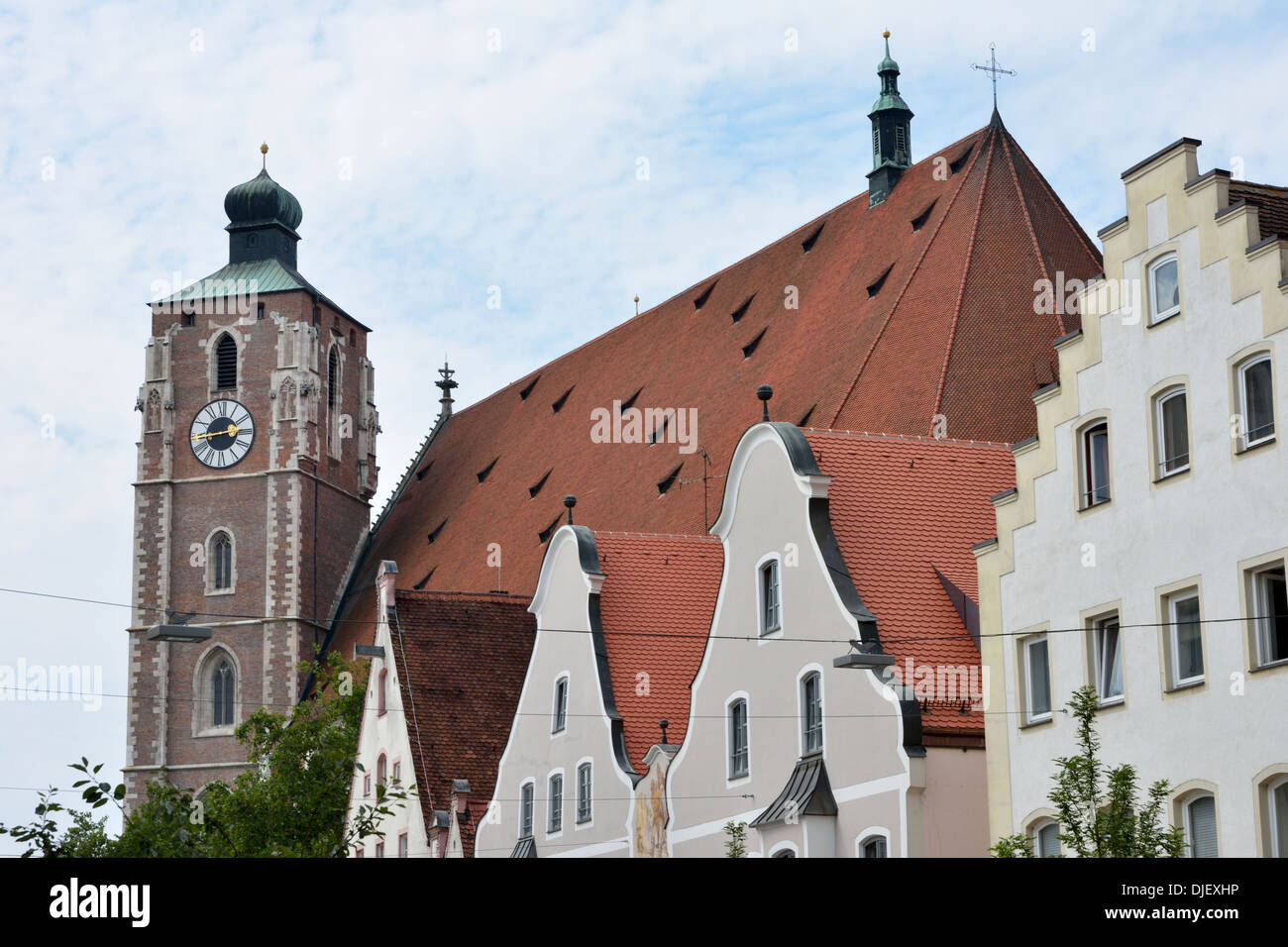The cathedral of Ingolstadt (Liebfrauenmuenster) Stock Photo