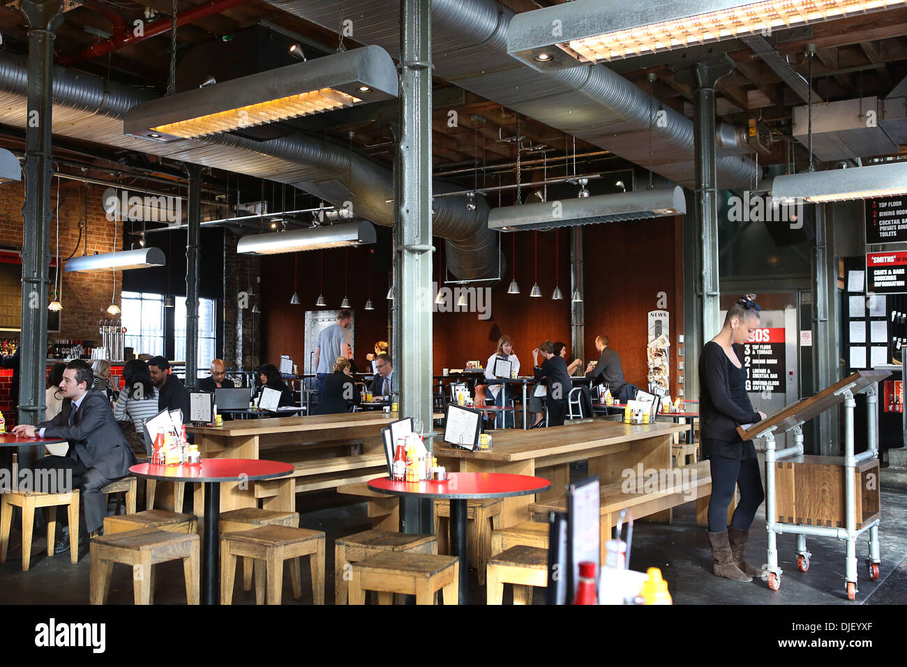 Smiths of Smithfield bar and restaurant. - Stock Image