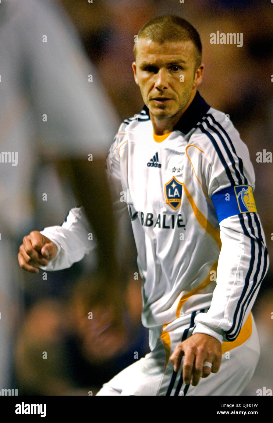 Nov 11, 2007 - Minneapolis, Minnesota, USA - DAVID BECKHAM during the game. (Credit Image: © Dave Brewster/Minneapolis Stock Photo