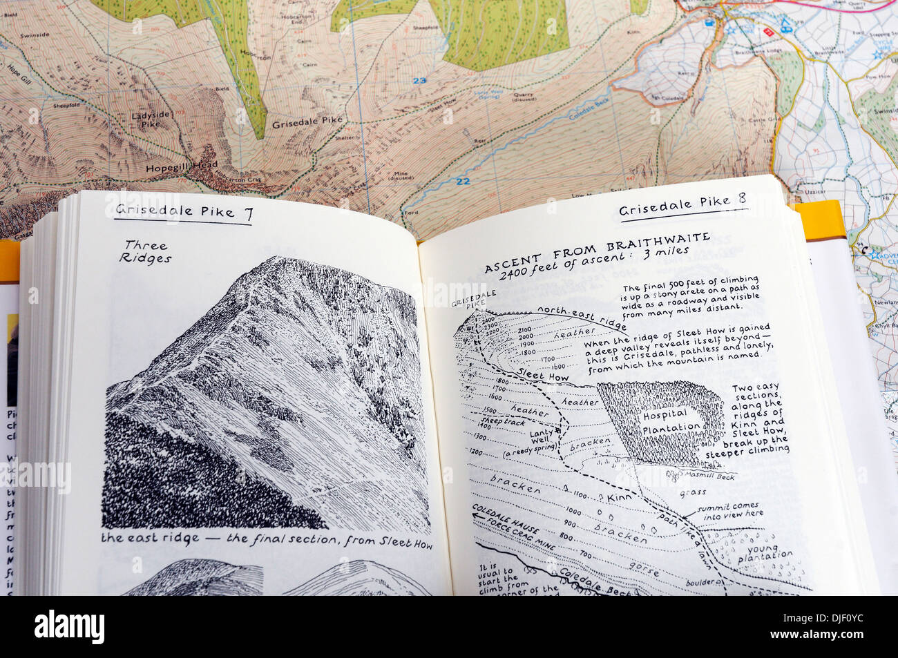 Map Of Nw England.Wainwright Walking Guide To The Lake District Of Nw England On A
