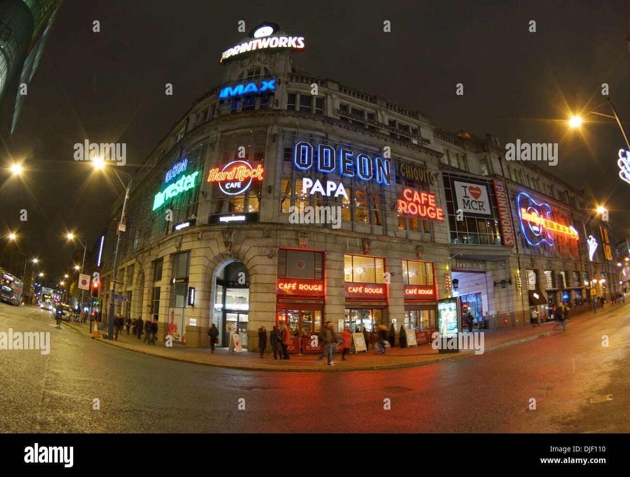 Printworks entertainment complex in Manchester - previously the headquarters of the Manchester Guardian newspaper. - Stock Image