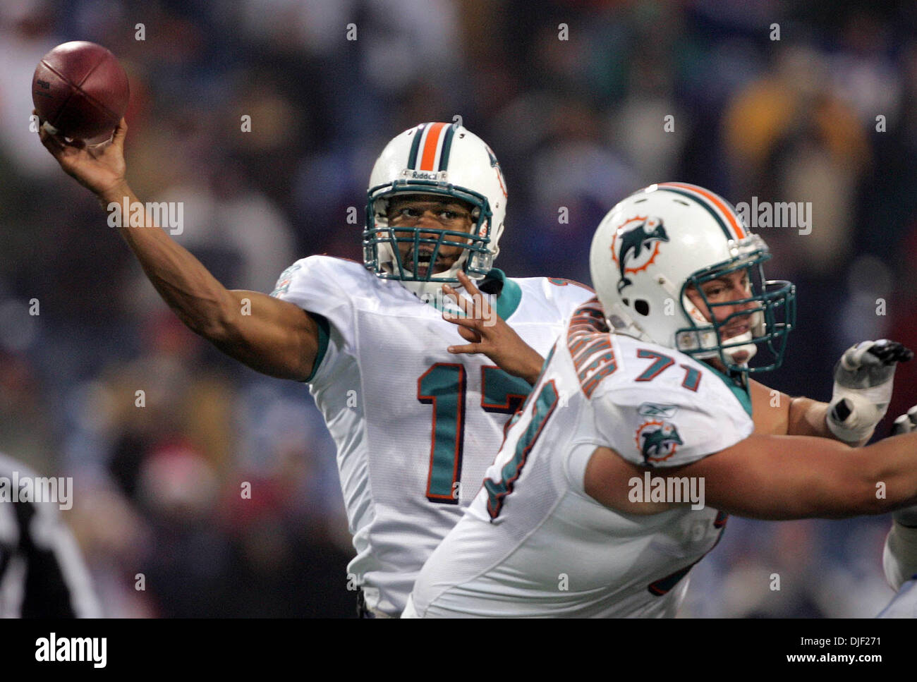 Dec 09, 2007 - Buffalo, New York, USA - Dolphins CLEO LEMON took over for John Beck in the first quarter. (Credit Stock Photo
