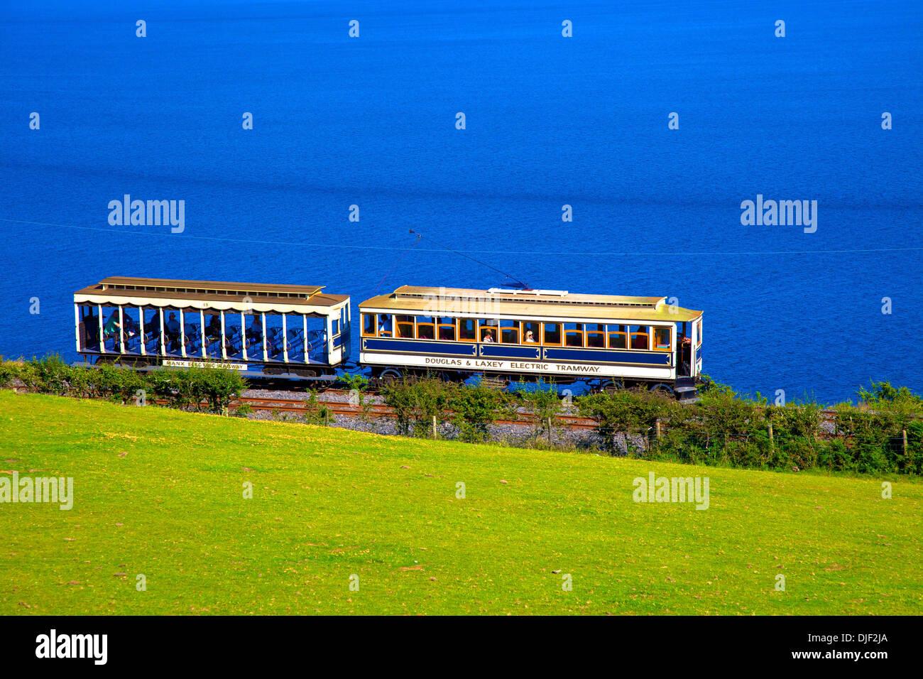 Manx Electric Railway, Isle of Man - Stock Image