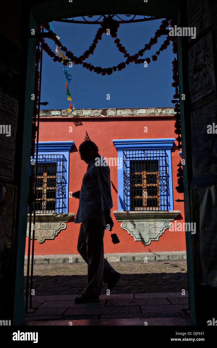 Colonial Avenue May 5 in the historic district Oaxaca, Mexico. - Stock Image